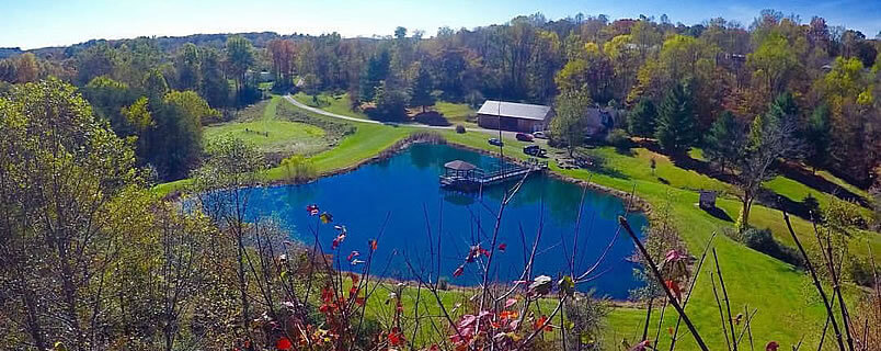 The lodge has some of the most scenic views in the Hocking Hills