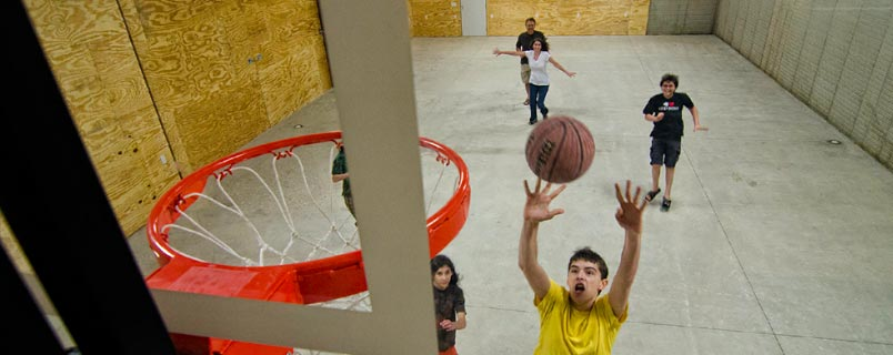Heated and air conditioned sports complex includes basketball, volleyball, and more